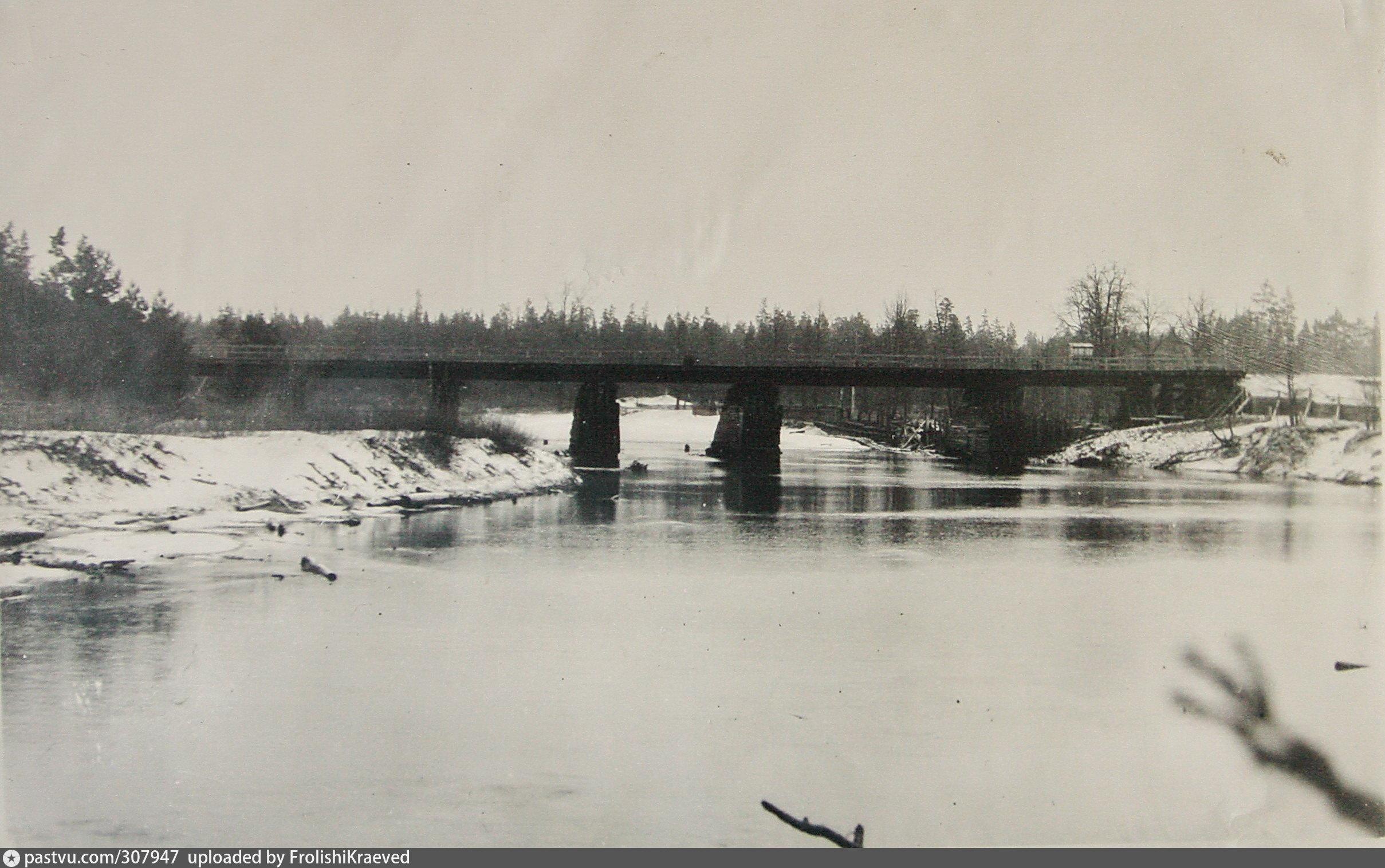 фото моста в лухе городецкий или лыковский холода сходят