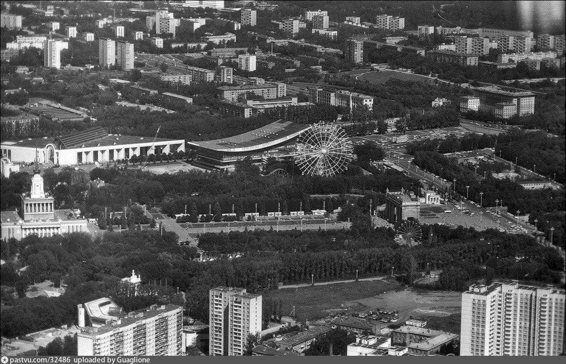Вид Москвы с Останкино 80ые