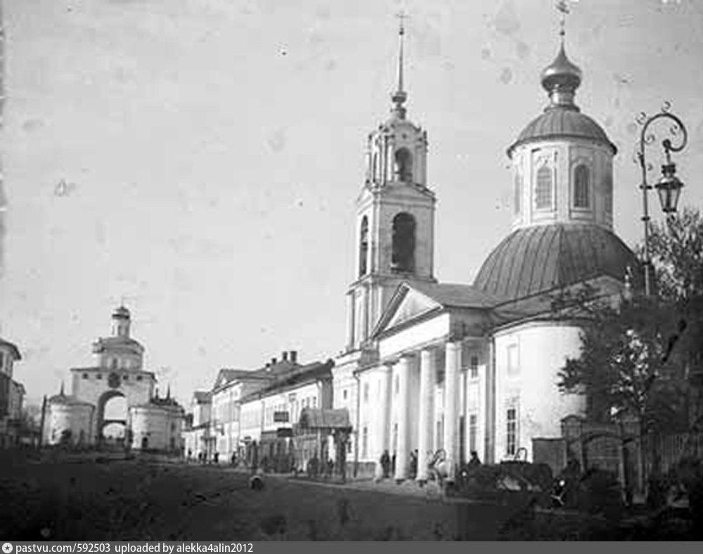 Владимир в старой открытке кинотеатр ампир николо-златовратская церковь, анимации картинок