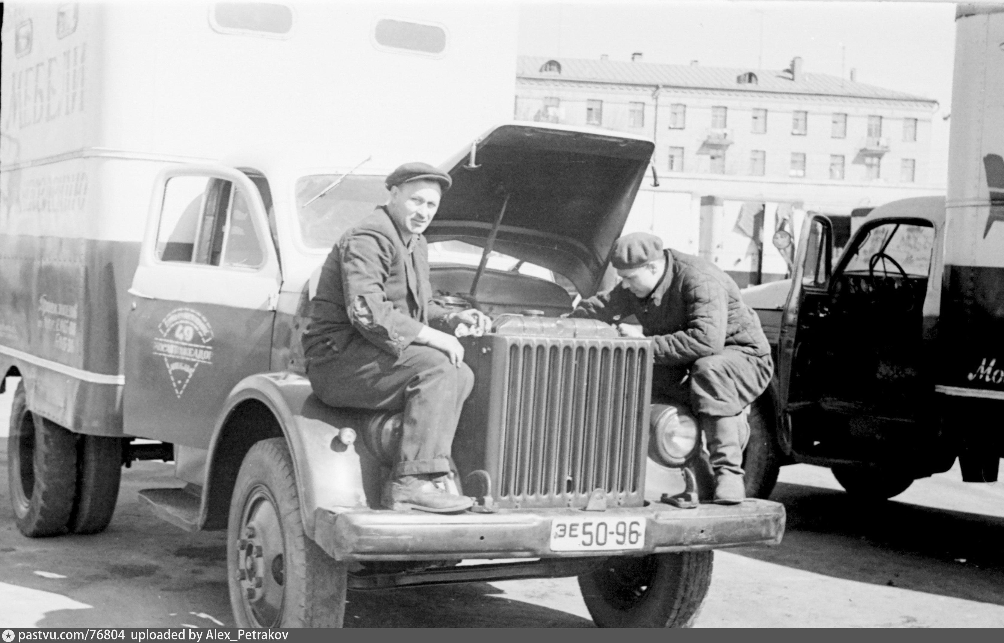 Фото старых московских автобаз