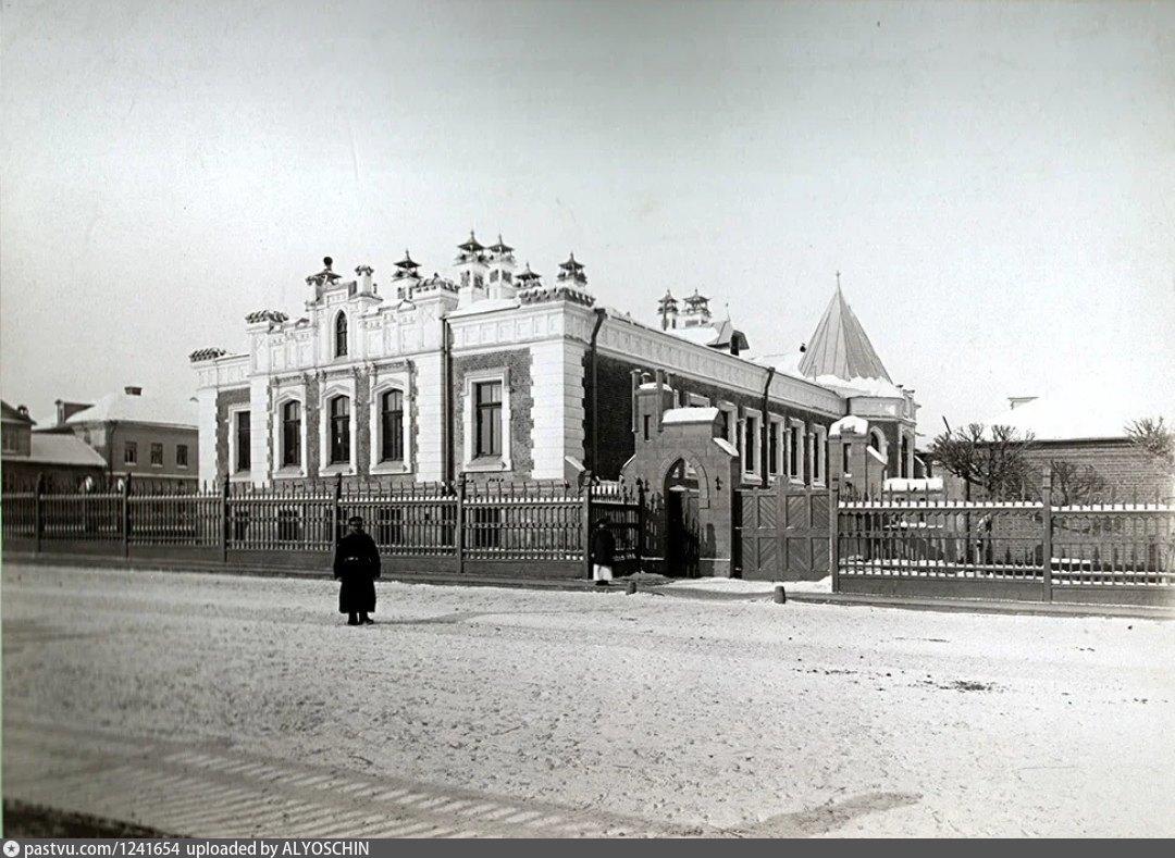 Особняк А. А. Бахрушина. Вид со стороны Зацепского Вала. Фотография 1890-1905 года.