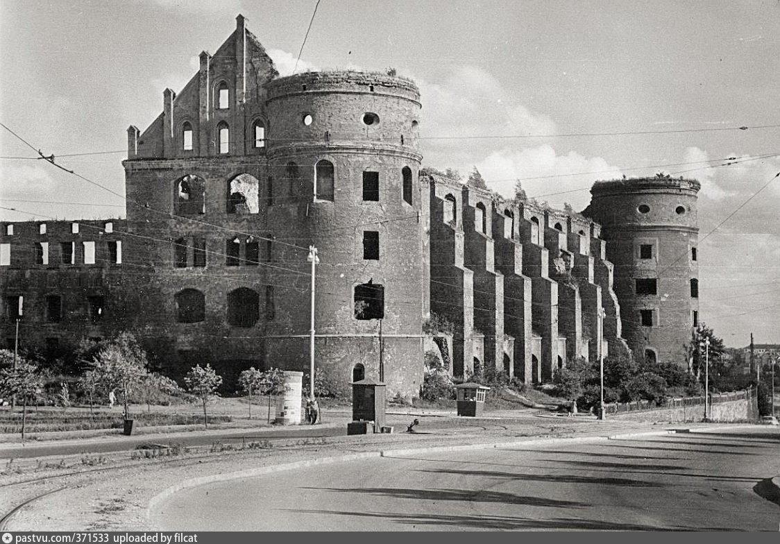 Фотография королевского замка в кенигсберге