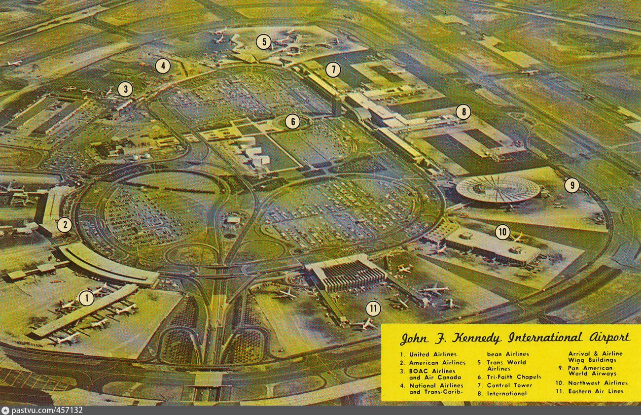 Аэропорт нью-йорка кеннеди схема терминалов