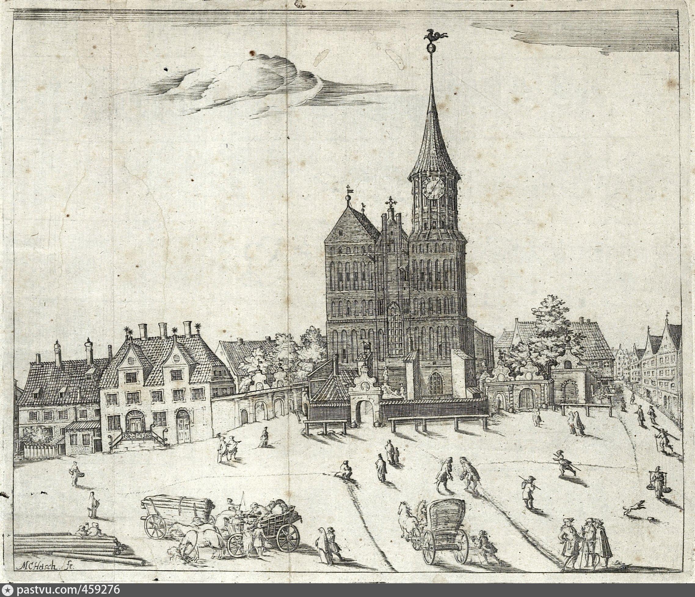 Кафедральный собор на о. кнайпхоф и соборная площадь.