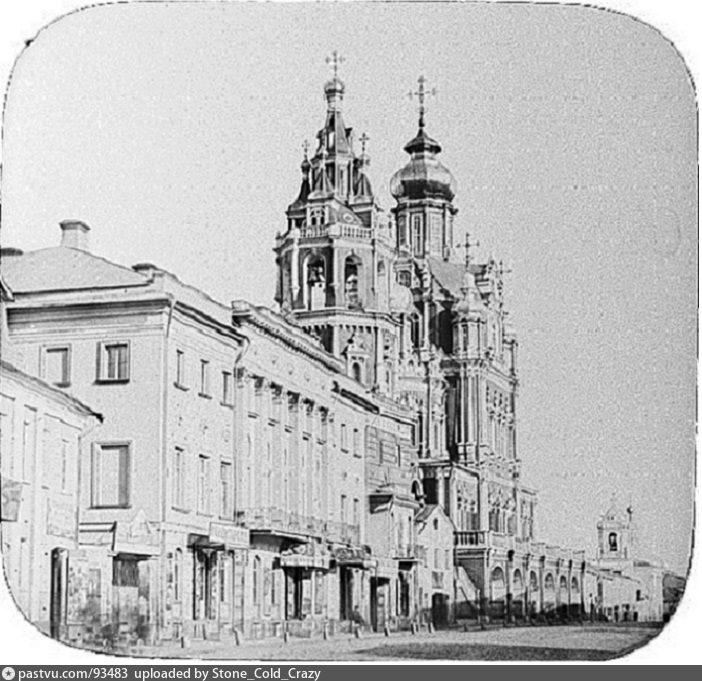 Покровка.Вид церквей Успения и Троицы