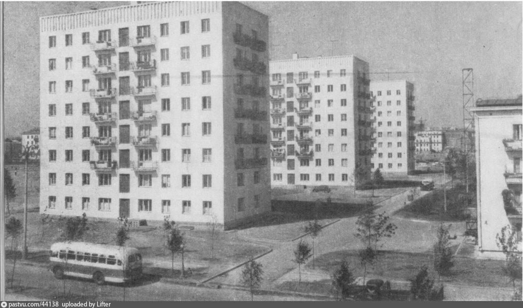 Старые карты Москвы - 9-й квартал Новых Черемушек-6.