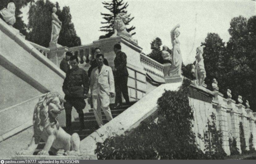 Лестницы и террасы регулярного партера парка Архангельское, 1940