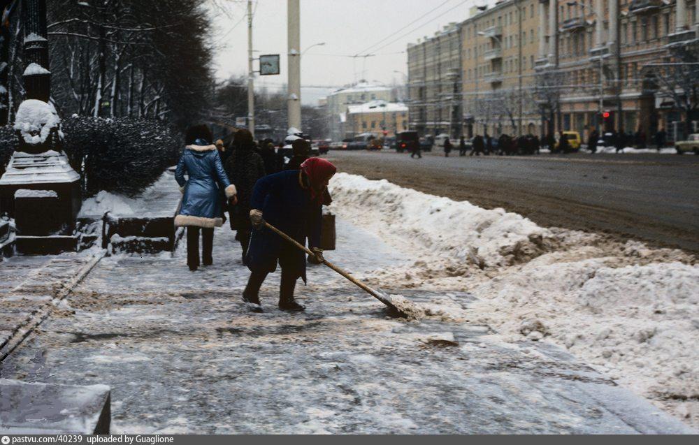 Зимним днём на Пушкинской