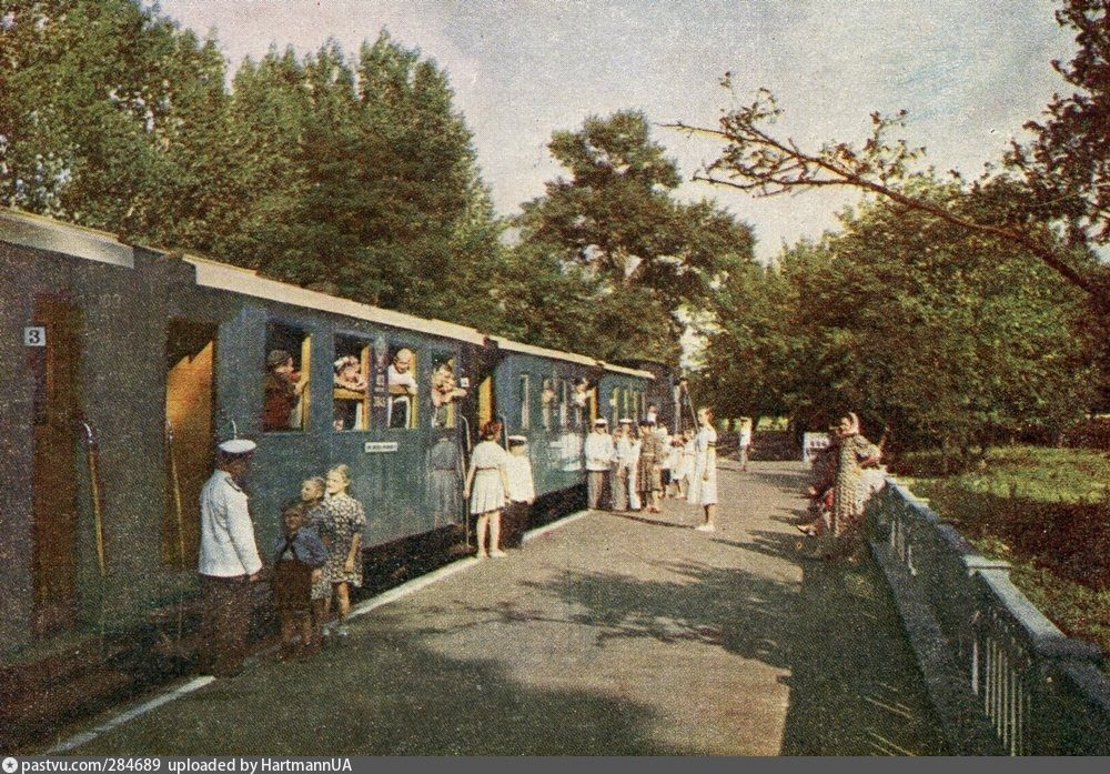 1952 рік, потяг на станції