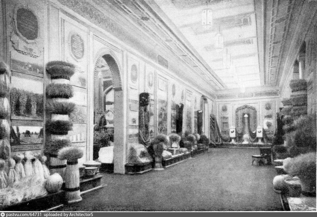 Павильон Таджикской ССР. Главный зал. ВСХВ (1954)