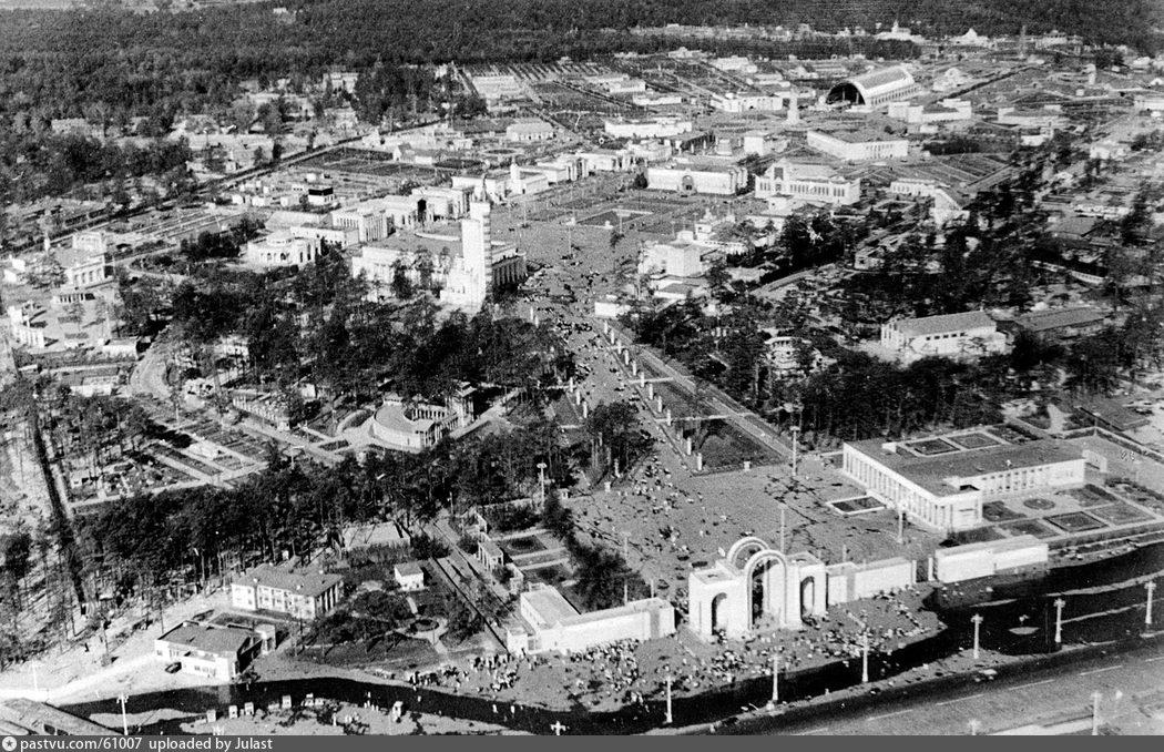 ВСХВ с птичьего полёта, 1939