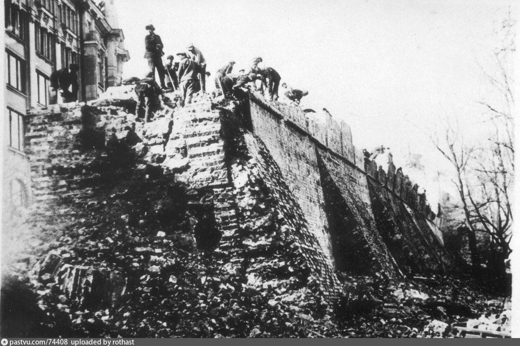 Снос Китайгородской стены