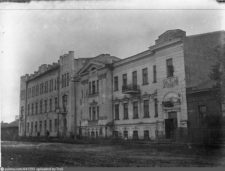 Здание Управления контроля Омской железной дороги и особняк Л.П. Голуба -  Retro photos